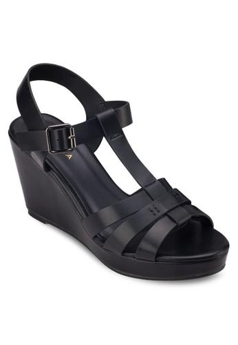 多帶楔型跟涼鞋, 女鞋, 楔形zalora是哪裡的牌子涼鞋