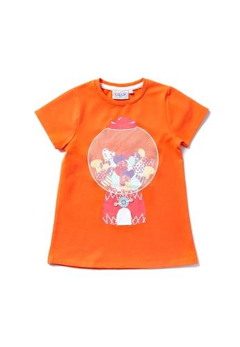 Vauva orange Vauva Hauska Girls Love Capsule One-Piece Dress - Orange 6813CKA3737561GS_1