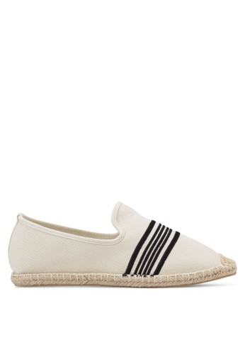 JAXON beige Kanvas Slip Ons with Embroidery 06D20SH48928DCGS_1