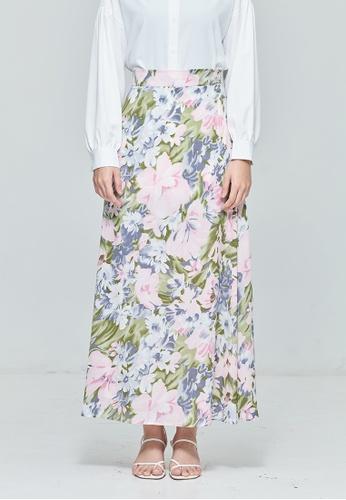 MC Vogue purple Purple Chiffon Maxi Skirt in Floral Bloom BAABBAA553CF25GS_1