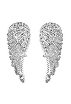 Treasure by B&D E035-B Angel's Wings Shaped Czech Drilling Stud Earrings