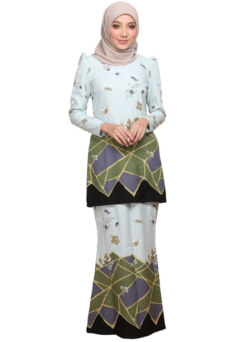ANNIS EXCLUSIVE green Kurung Moden Puff Sofea (AE031MP Mint Green) 5AE01AA83BE803GS_1
