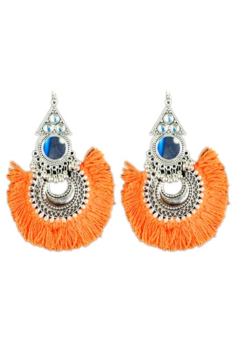 Zaryluq orange Tassel Earrings in Turuncu 8AE46AC4D56A24GS_1