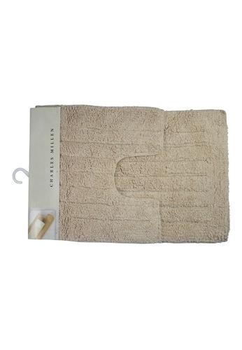 Charles Millen Charles Millen CMST Oi-4186 Fuse 100% Cotton Tufted Bath Rug 40x40 and 40x60cm / 650g. D2AF0HL8D7840EGS_1