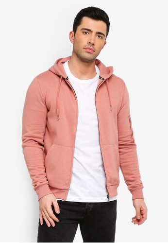 Brave Soul pink Zip Through Hoodie 61CC0AA5EF8680GS_1