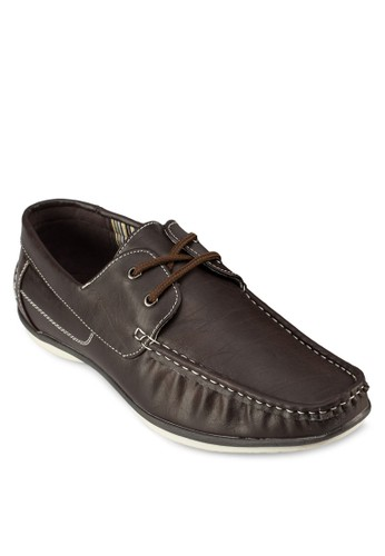Axenberg esprit 錶繫帶仿皮船型鞋, 鞋, 鞋