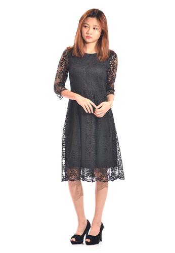 2378b8254d Sweetheart black Lace Fit   Flare Dress DRA211939-BLACK SW813AA0RJUVMY 1