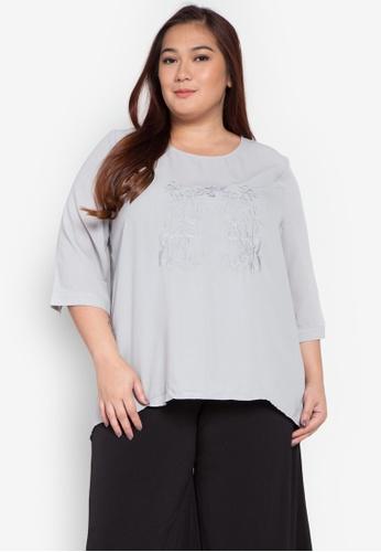 Maldita X grey Keana Plus Size Embroidered Blouse MA587AA0KOXEPH_1