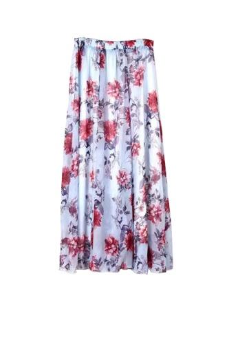 Twenty Eight Shoes purple VANSA Floral Chiffon Long Skirt VCW-Sk1136.8 E5669AA85711E9GS_1