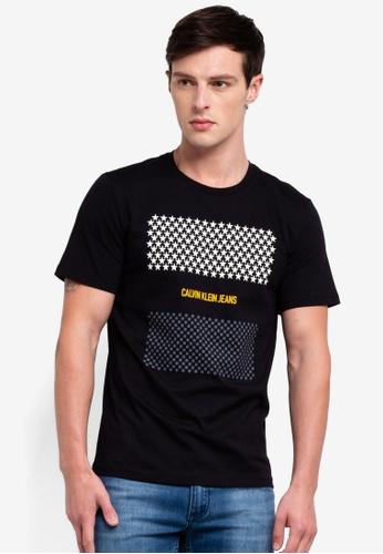 Calvin Klein 黑色 Short Sleeve Fashion Logo Regular Tee EDBC9AA0B09D81GS_1
