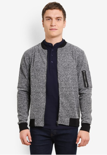 Only & Sons grey Caspar Bomber Jacket ON662AA0SE47MY_1