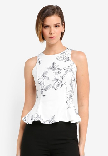 MDSCollections white Willow Peplum Top In White 30BADUS0C16F56GS_1