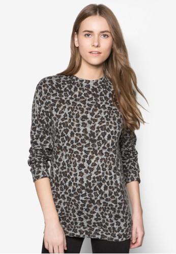 豹紋高領長袖衫, 服飾, 連帽上衣 & 連帽shopbop外套