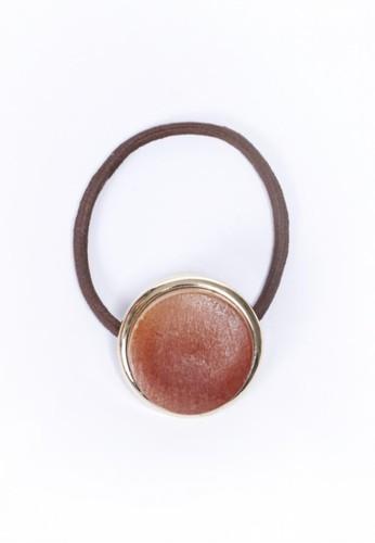 正圓金屬框木頭髮圈、 飾品配件、 髮飾【yve,】正圓金屬框木頭髮圈最新折價