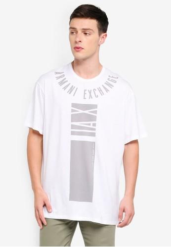 Armani Exchange white Logo Ard Collar Crew T-Shirt 1682EAA488CEF7GS_1