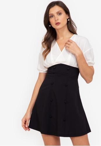 ZALORA WORK multi Wrap Bodice Dress 10826AADBB6ABEGS_1