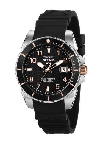 Sector black Sector 450 41mm Black Dial Men's Quartz Watch R3251276006 EBC5AACB10FDA4GS_1