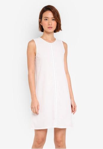 ZALORA white Stitch Detail Dress DADEFAAA536FB2GS_1