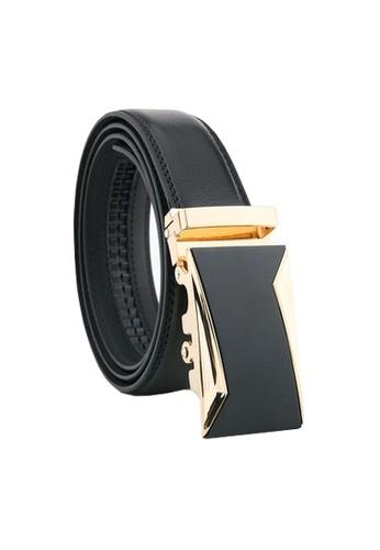 Twenty Eight Shoes black VANSA Fashion Leather Automatic Buckle Belt  VAM-Bt036 DC3F5ACEA123B6GS_1