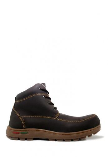 Cut Engineer brown Cut Engineer Safety Boots Hiking Leather Dark Brown CU226SH0WDIRID_1