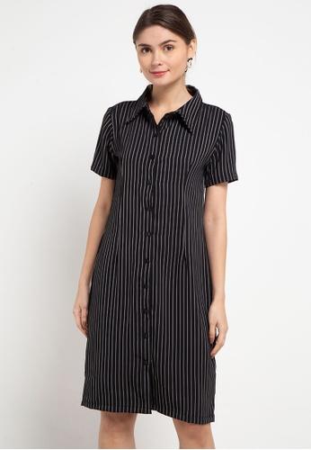 CHANIRA LA PAREZZA black Chanira La Parezza Lana Shirt Dress E8AAFAAFF0F350GS_1
