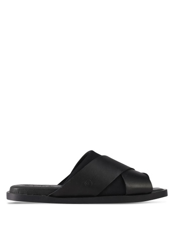 House of Avenues black Casual Sliders 344AASH6E80BDAGS_1