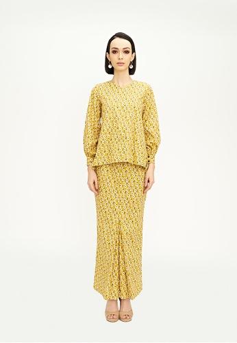 TUSCA yellow Paula Kurung Kedah BDB93AA2173C75GS_1