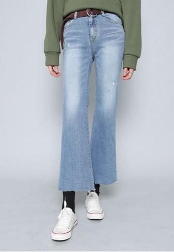 水esprit outlet hong kong洗藍闊腿牛仔褲, 服飾, 多色牛仔褲