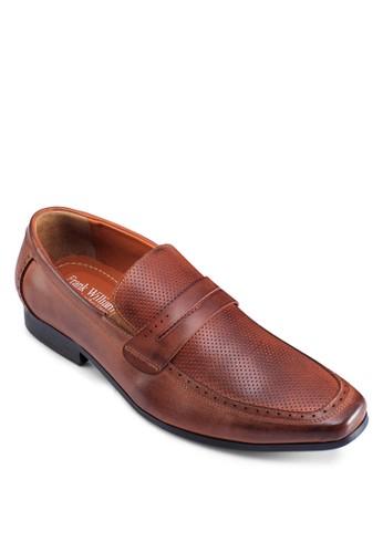 方頭沖孔皮鞋, 鞋,esprit 面試 鞋