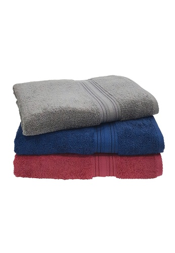 Martex Bundle Of 3 Martex (USA) Purity 100% Combed Cotton Bath Towel 70x140cm 490 gram. DDF88HLA91D83EGS_1