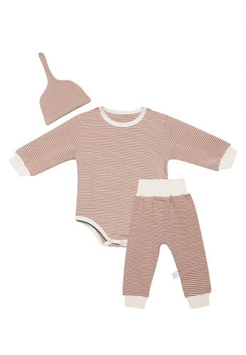RAISING LITTLE beige Satchi Playsuit AE698KAF7E7BB1GS_1