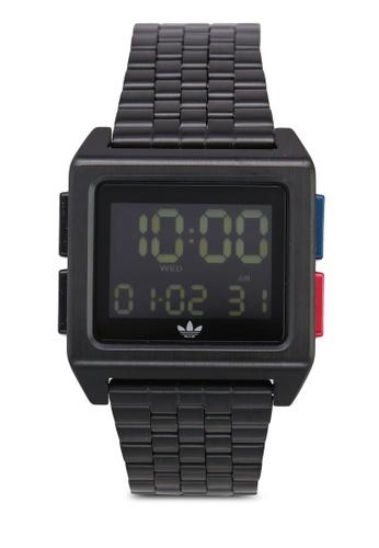 adidas black adidas originals Archive M1 Watch 073B0AC7F9621EGS_1