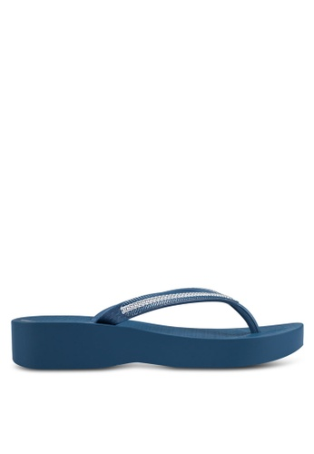 Ipanema blue Ipanema Mesh III Plat Fem Flip Flops IP362SH0RVH6MY_1