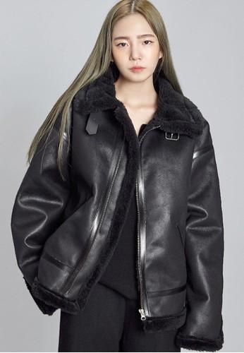 寬鬆復古皮毛外套, 服飾, 夾克 &a京站 espritmp; 大衣