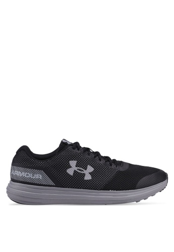 Under Armour black UA Surge Running Shoes 5EF64SH5E7D7F0GS_1