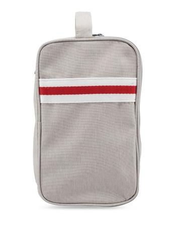 Bagstationz beige Strap Design Lightweight Water-Resistant Travel Toiletries Pouch 6DA2EAC89CAE3CGS_1
