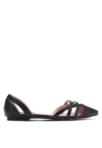 ZALORA black Cut-Out Pointed Toe Flats 91644SH0D0138EGS_1
