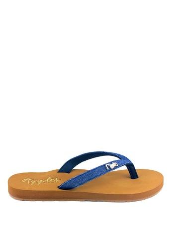 0190b05f50 Ripples blue Ella Arch Support Sandals (Mid Blue Denim) A770ASH67BABF9GS_1