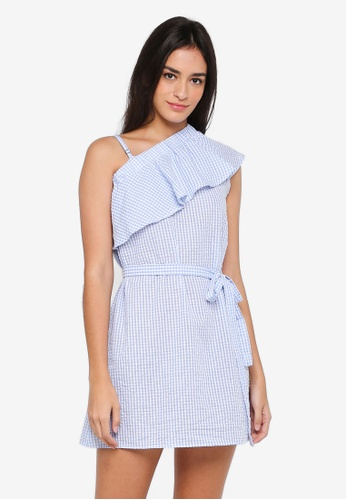 Something Borrowed blue Layered Toga Dress 8691DAA7D39960GS_1