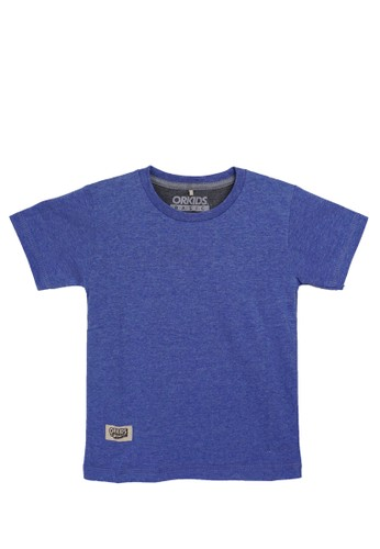 ORKIDS WEAR blue and multi ORKIDS Baju Kaos Anak Pols - Twotone Blue 7990DKABD6C1C1GS_1