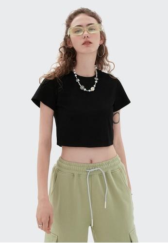 Twenty Eight Shoes Cropped Casual Short Sleeve T-shirt 6000GS21 57D93AAA6E2B61GS_1