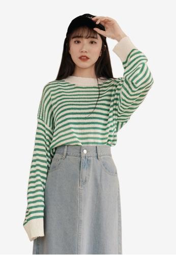 6aa7f26fe2b3c3 Buy Tokichoi Loose Stripe Long Sleeve Top Online on ZALORA Singapore