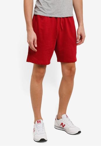 Marc & Giselle 紅色 Jogger 短褲 MA188AA0RTJZMY_1
