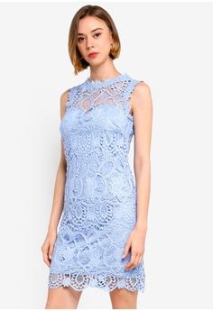 34037cb17de Paper Dolls blue Blue Crochet Dress 9713CAA466A204GS 1