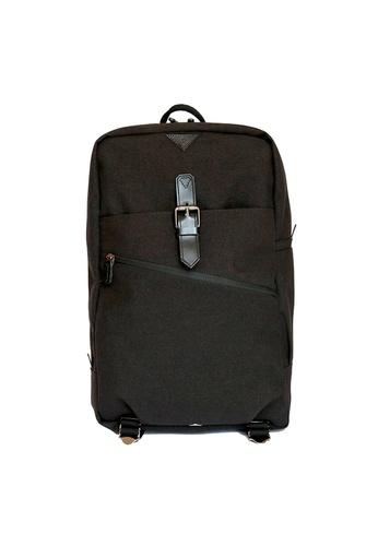 Samuel Ashley black Samuel Ashley Kansas Nylon Backpack - Black FD424AC1EE0D14GS_1