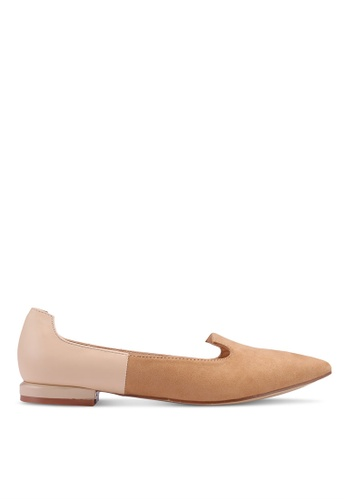 Nose 褐色 拼接平底鞋 F6ADFSH0B71509GS_1