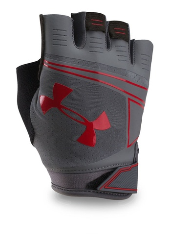Under Armour grey UA Coolswitch Flux Gloves UN337AC0RAQPMY_1
