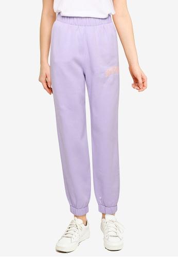 Hollister purple Chain Trend Dad Jogger Pants 5F632AAB1EACADGS_1