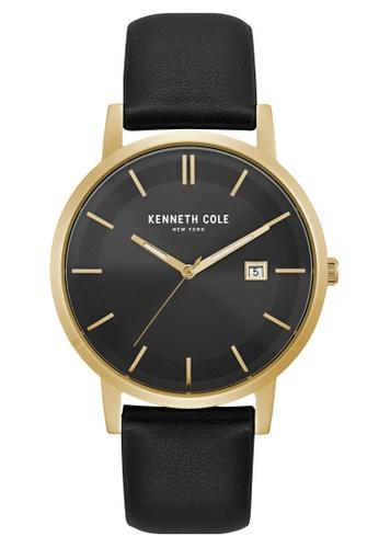 Kenneth Cole black and gold Kenneth Cole Men's 3 Hand Gold Black Strap - KC15202002 KE854AC0FKH1SG_1