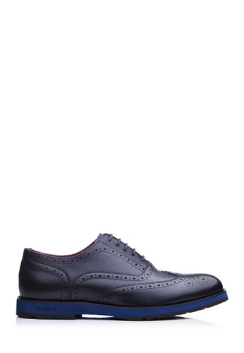 BONIA blue Men Dark Blue Long Brogue Shoes 0F8D5SH8DCD6F2GS_1